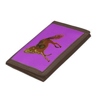 Púrpura de Brown de los caballos de la cartera de