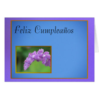 Púrpura de Feliz Cumpleaños - de Flor Tarjeta De Felicitación