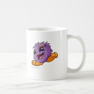 Púrpura de JubJub Taza Básica Blanca