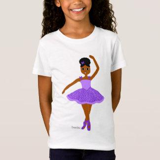 Púrpura de la bailarina del navidad de Cutie del Camiseta