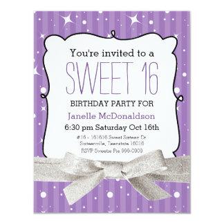 Púrpura de la fiesta de cumpleaños del dulce 16 de comunicados personales