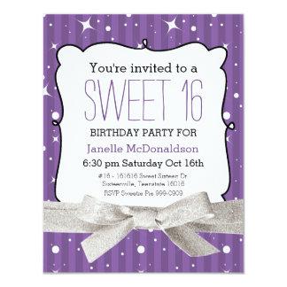Púrpura de la fiesta de cumpleaños del dulce 16 de anuncios