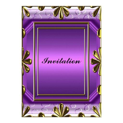 Púrpura de la fiesta del cumpleaños de las mujeres comunicados personales