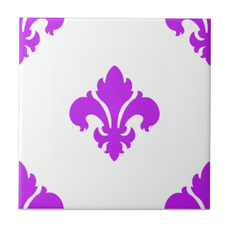 Púrpura de la flor de lis 1 azulejo