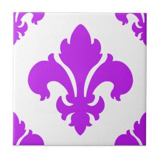 Púrpura de la flor de lis 2 tejas  cerámicas