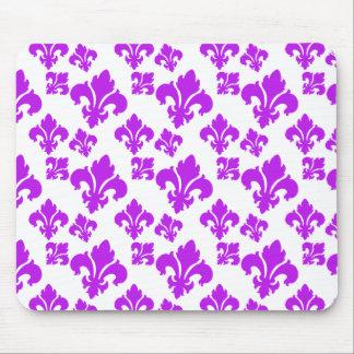 Púrpura de la flor de lis 4 alfombrilla de ratón