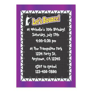 Púrpura de la invitación de la fiesta de invitación 12,7 x 17,8 cm