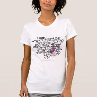 Púrpura de la pintada camisetas