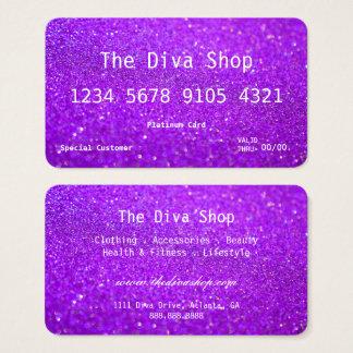Púrpura de la tarjeta de crédito del brillo de la