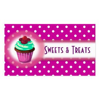 Púrpura de la tarjeta de visita de la panadería de