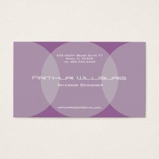 Púrpura de la tarjeta de visita del círculo de la