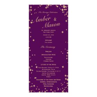 Púrpura de las estrellas del centelleo y chispa tarjetas publicitarias personalizadas