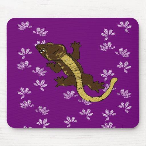 púrpura de las huellas del crestie (mousepad) tapetes de ratón