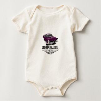 púrpura de los correcaminos body para bebé