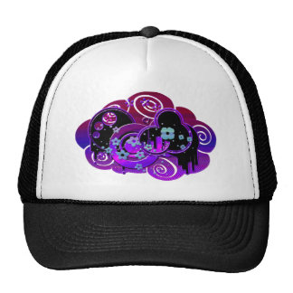 Púrpura de Swirly Gorras
