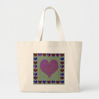 Púrpura del amor bolsa tela grande