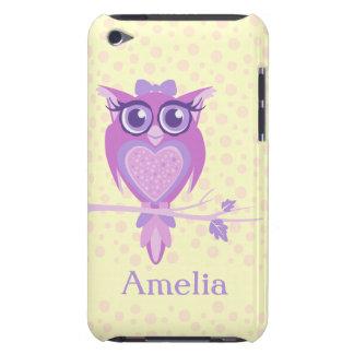 Púrpura del búho de los chicas y caso lindos del funda Case-Mate para iPod