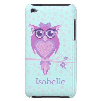 Púrpura del búho de los chicas y caso lindos del funda iPod