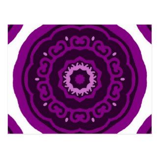 Púrpura del caleidoscopio postal