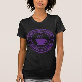 Púrpura del círculo del tiempo del café A251 Camisas
