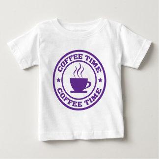Púrpura del círculo del tiempo del café A251 Camiseta Para Bebé