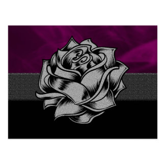 Púrpura del Grunge subió Tarjetas Postales