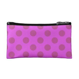 Púrpura del lunar bolso de maquillaje