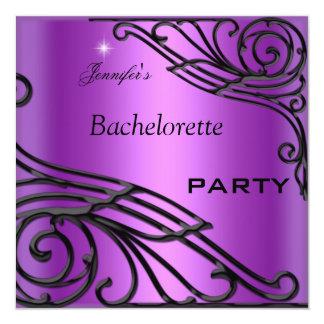 Púrpura del negro del fiesta de Bachelorette Comunicados