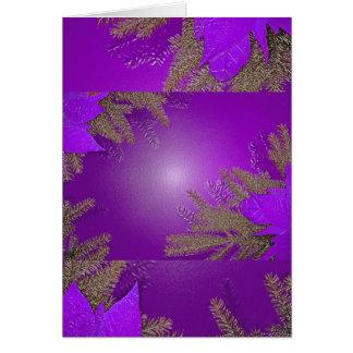 Púrpura del Poinsettia del navidad Tarjeta De Felicitación