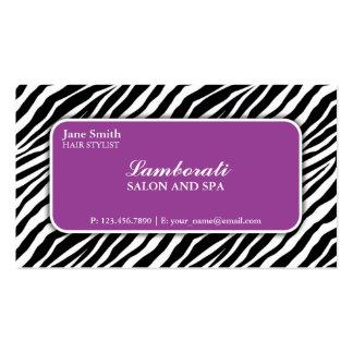 Púrpura del salón del peluquero del estilista del tarjetas de visita