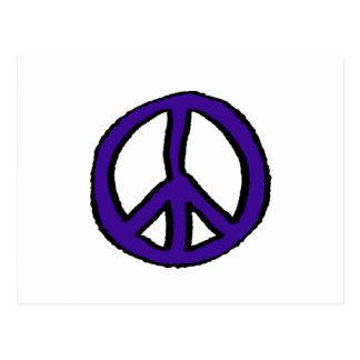 Púrpura del signo de la paz - postal