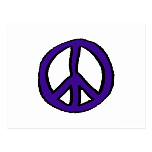 Púrpura del signo de la paz - tarjeta postal