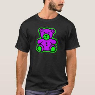 Púrpura del verde del oso de peluche los regalos camiseta