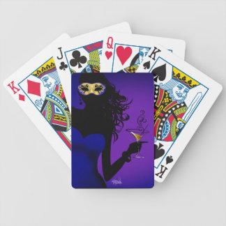 Púrpura descarada del azul real el   de la barajas de cartas