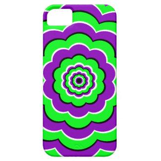 Púrpura - diversión óptica verde iPhone 5 Case-Mate protectores