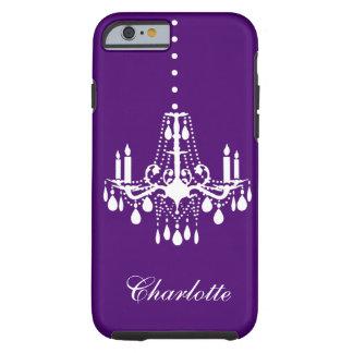Púrpura dura del iPhone 6 cristalinos de la Funda Para iPhone 6 Tough
