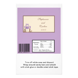 Púrpura/envoltura grande de la barra de caramelo d folleto 14 x 21,6 cm
