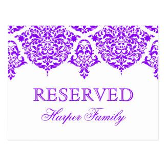 Púrpura fabulosa del damasco de 311 lunes Cherie Postal