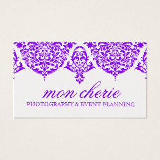 Púrpura fabulosa del damasco de 311 lunes Cherie Tarjeta De Negocios