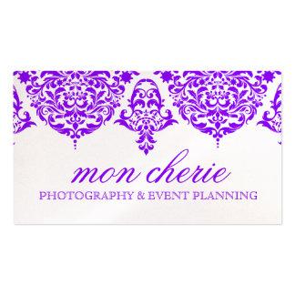Púrpura fabulosa del damasco de 311 lunes Cherie Tarjetas De Visita