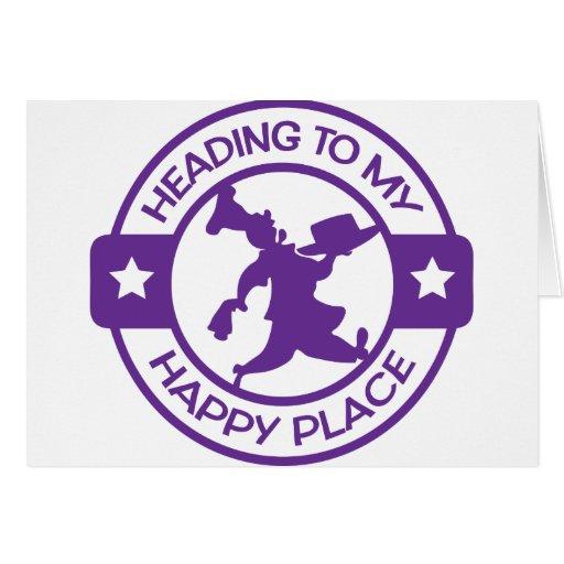 Púrpura feliz del chef de repostería del lugar A25 Tarjetas