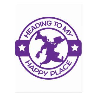 Púrpura feliz del chef de repostería del lugar postal