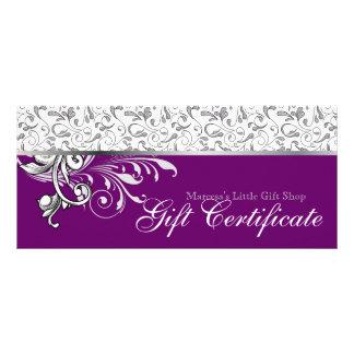 Púrpura floral de la venta al por menor elegante d lonas personalizadas
