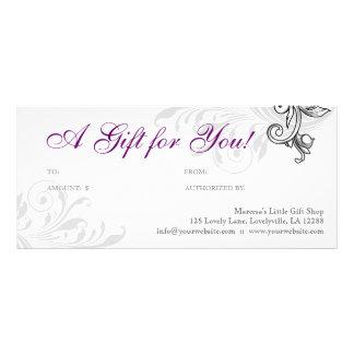 Púrpura floral W de la venta al por menor elegante Lona
