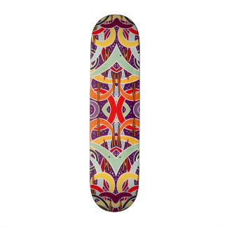 Púrpura geométrica del modelo del vintage enrrolla tabla de patinar