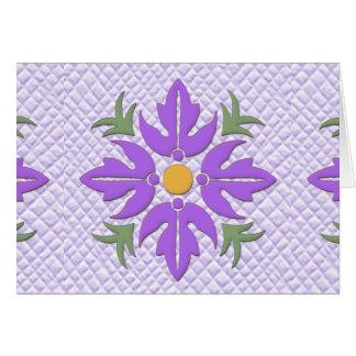 Púrpura hawaiana del edredón de la flor del estilo tarjeta de felicitación