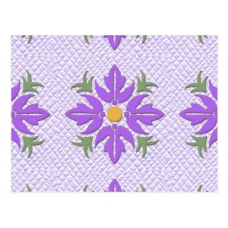 Púrpura hawaiana del edredón de la flor del estilo postal