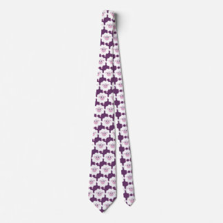 Púrpura linda de las ovejas del dibujo animado corbatas personalizadas