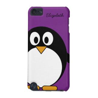 púrpura linda del pingüino del dibujo animado funda para iPod touch 5G