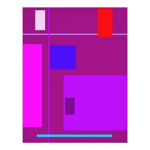Púrpura linear de la belleza tarjetas publicitarias